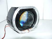 Маска 3.0 BMW F-Style black с ангельскими глазками (DRL + габарит)