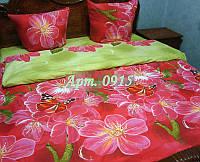 Постельное белье из бязи оптом и в розницу, Большие розовые цветы 0915