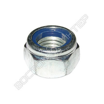 Гайка М10 DIN 985 самоконтрящаяся с нейлоновым кольцом, фото 2