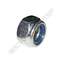 Гайка М10 DIN 985 самоконтрящаяся с нейлоновым кольцом, фото 3