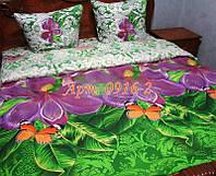 Постельное белье из бязи оптом и в розницу, Большие сиреневые цветы 0916-2