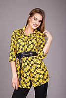 Оригинальная женская блуза желтого цвета