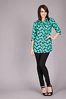 Привлекательная женская блуза мятного цвета
