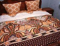 Постельное белье из бязи оптом и в розницу, Абстракция бежево-коричневая 0917