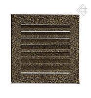 Вентиляционная решетка KRATKI  FRESH 17Х17 СМ черно-золотая