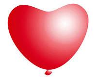 Латексные воздушные шары Gemar, расцветка: Пастель, форма: Фигурные, красное сердце, Диаметр 16 см, 100 шт.