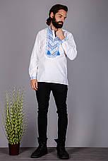 Мужская вышитая рубашка с оригинальным узором, фото 3