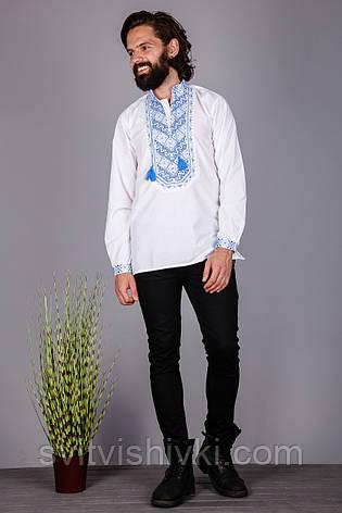 Мужская вышитая рубашка с оригинальным узором, фото 2