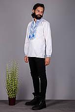 Чоловіча вишита сорочка з оригінальним візерунком, фото 2