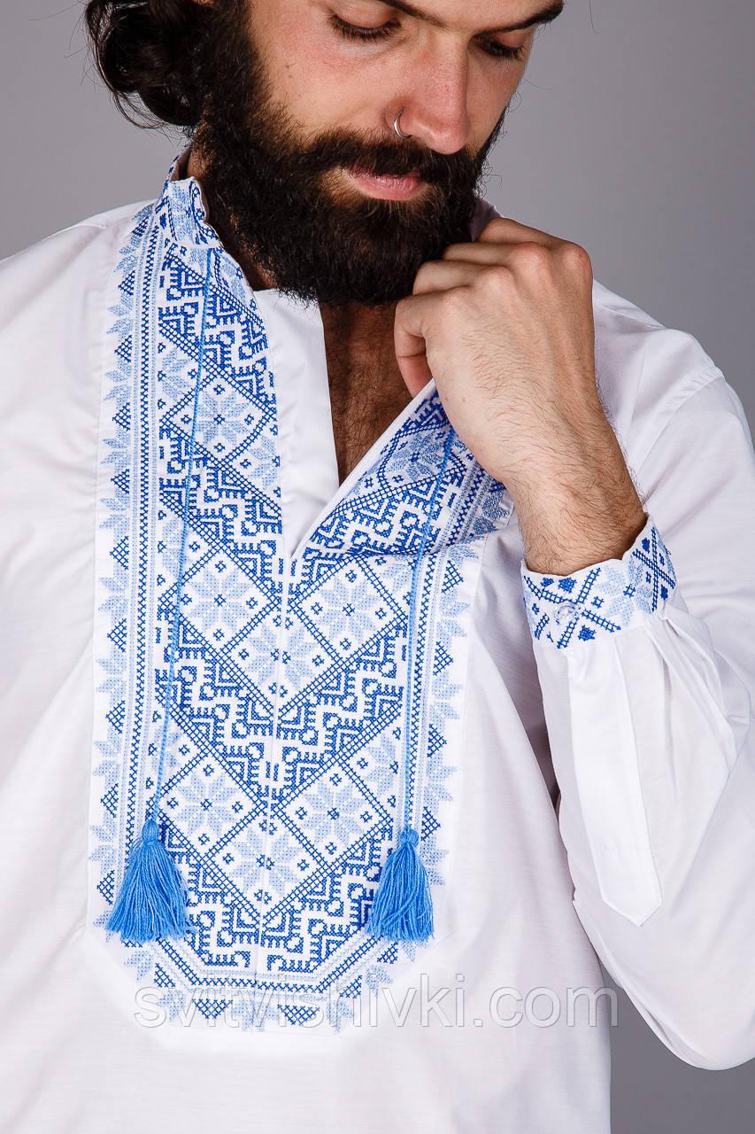 Чоловіча вишита сорочка з оригінальним візерунком