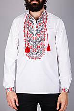 Мужская вышитая рубашка с оригинальным узором вышитым крестиком, фото 2