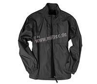 Милтек куртка ветрозащитная нейлон черная все разм.