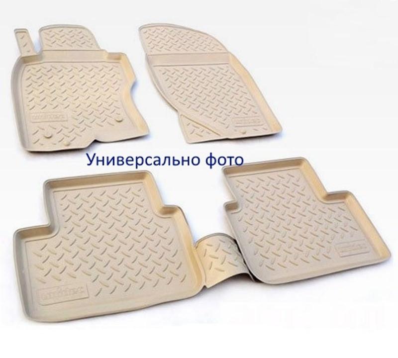 Коврики в салон для Volkswagen Touareg (02-10) (полиур., компл - 4шт) цвет бежевый. NPL-Po-95-55B