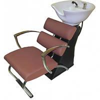 Парикмахерская мойка с креслом 5525brown-plast