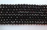 Бусина Шар с огранкой цвет черный 8 мм, фото 2