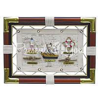 Морской сувенир картина «Морские узлы» Sea Club, 36x26 см.