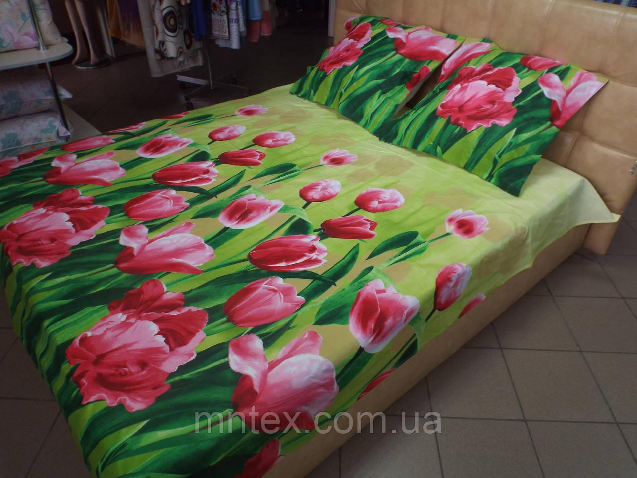 Постельное белье бязь премиум  Тюльпаны