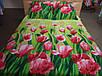Постельное белье бязь премиум  Тюльпаны , фото 2