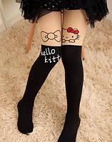 """Колготки детские капроновые черные """"Hello Kitty"""""""