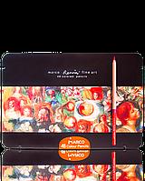 """Карандаши цветные художественные """"MARCO"""" Fine Art-48TN Renoir в металлическом пенале (48 цветов), фото 1"""