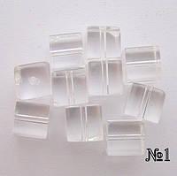 Бусина Куб цвет прозрачный 8*8 мм