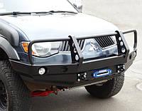 Передний бампер для Mitsubishi L200 (с 2006 года) с кенгурятником
