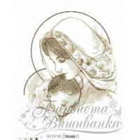 "Картина бисером ""Мария с младенцем ""бежевая 45*60"
