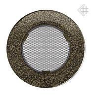 Вентиляционная решетка KRATKI круглая Ø100 черно-золотая