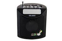 Мини портативная MP3 колонка радио USB FM DS-002BL, фото 1
