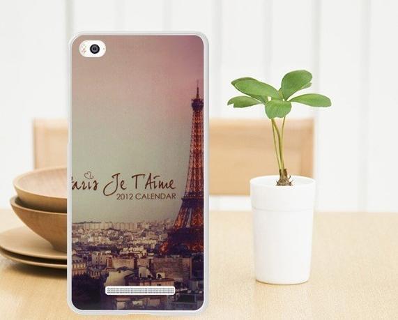 Силиконовый чехол накладка для Xiaomi M4с / 4i с картинкой Париж
