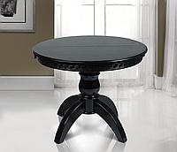 Деревянный стол обеденный, раскладной Престиж из бука. Цвет венге-шоколад