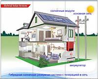10кВт трехфазная гибридная сетевая солнечная электростанция