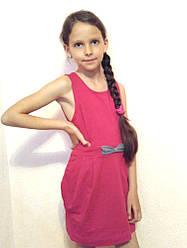 Платье детское с карманами розовое Sofie Gray р. 128 см хлопок 95%