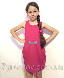 Платье детское с карманами розовое Sofie Gray, хлопок 95% р. 134 см