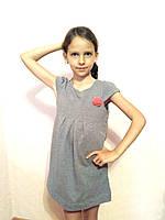 Платье детское с карманами серое Sofie Gray хлопок 95% р. 122