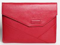 """Женская элитная папка для MacBook 12"""" кожаная ISSA HARA MC12 (15-00) red"""