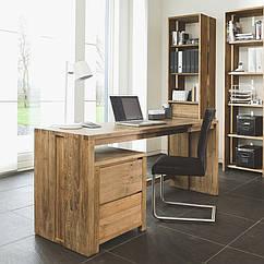 Стол письменный компьютерный из массива дерева 057