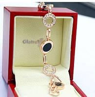 Браслет ювелирная бижутерия золото 18К кристаллы Swarovski