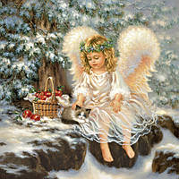 Декупажная салфетка Новогодний ангел 5823