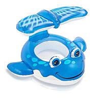 """Детский надувной плотик для плавания Intex 56593 """"Кит"""", фото 1"""