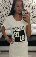 "Платье- туника летнее ""81.81 белое р. 42,44,;6"