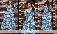 Женское льняное платье с вырезом-лодочкой