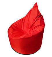 Красное бескаркасное кресло мешок Капелька из ткани Оксфорд