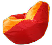 Детское кресло мешок груша оранжево-красная  100*75 см из ткани Оксфорд