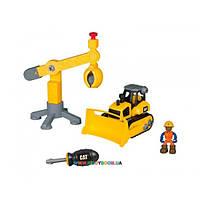 Игровой набор-конструктор Cat Machine Maker Бульдозер и подъемный кран 80912 (Toy State)