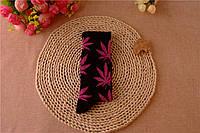 Носки HUF plantlife, черные с фиолетовым листом конопли Д14, фото 1