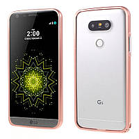 Чехол бампер Aluminium Hippocampal для LG G5 H850 розовый