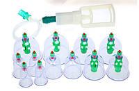 Банки вакуумные антицеллюлитные массажные 12 штук с насосом