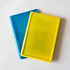 Заготовки для магнитов. Набор желтых и голубых акриловых заготовок 95х65 мм, фото 4