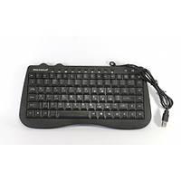 Клавиатура компьютерная мини KEYBOARD PG-945, мультимедийная проводная клавиатура